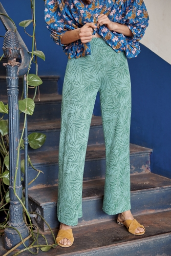 Pantalon fluide Palms & lurex