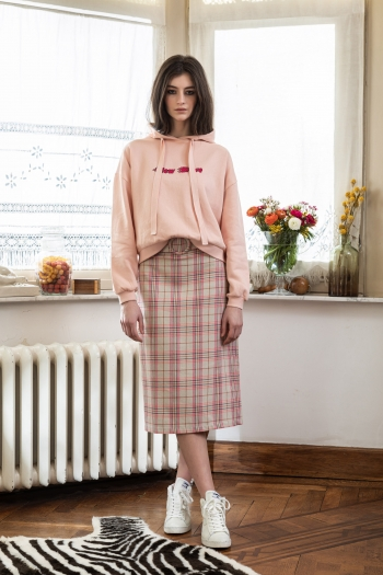 PENCIL COLLEGE CHECKERED SKIRT