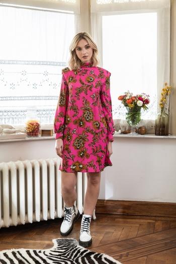 SHORT TAPESTRY DRESS